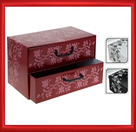 Cardboard Drawers by Italian Floral Cardboard Storage Box Drawers Cabinet Unit Bedroom Office Home Ebay