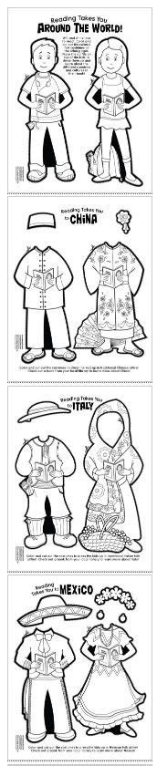 printable paper dolls from around the world 1000 images about free time worksheets on pinterest