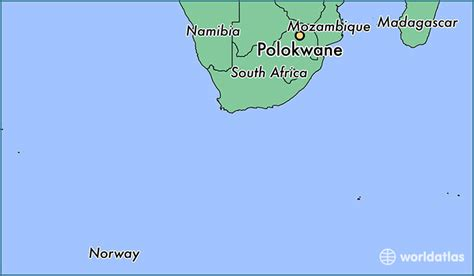 where is polokwane south africa polokwane limpopo map worldatlas