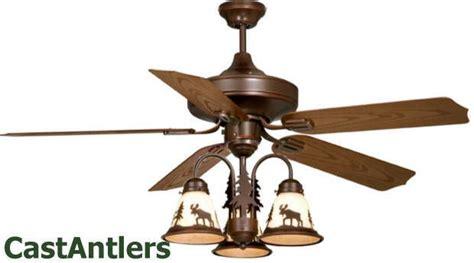 rustic lodge ceiling fans 52 quot lodge rustic cabin ceiling fan w light kit bear moose