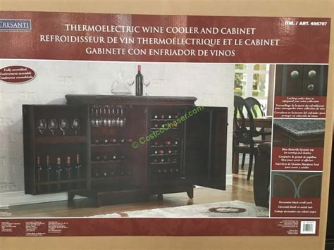 costco 466797 tresanti thermoelectric wine cooler cabinet