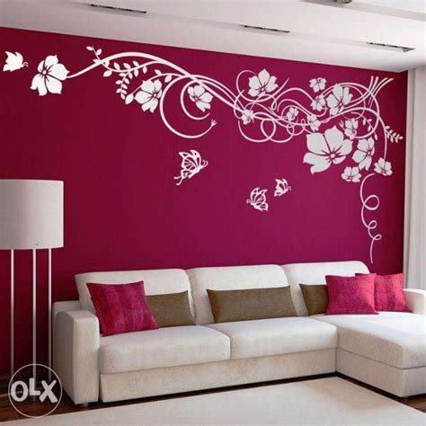 glamorous wall painting designs for living room