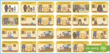 goldilocks and the three bears cut and stick story sequencing