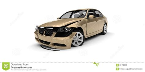 car white background car wrecked stock illustration image 63410690