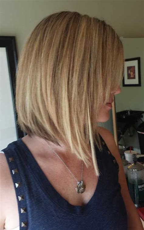 blonde full fringed inverted bobs best long inverted bob hairstyles for stylish ladies