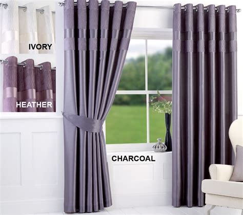 new pleated top border curtains faux silk fully lined studio crinkle pleated top border ring top curtains with