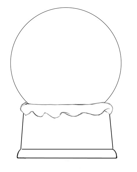 globe template free snow globe coloring pages