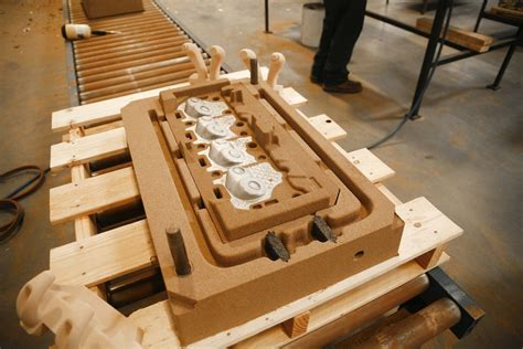 built up pattern in casting cast system an inside look at edelbrock s foundry and