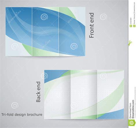 tri fold brochure design stock image image 34424981