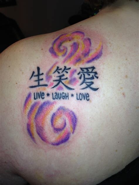 love symbols tattoos live laugh symbols on back shoulder