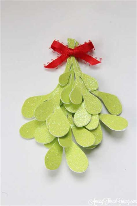 How To Make Mistletoe Out Of Paper - paper mistletoe cricut design among the