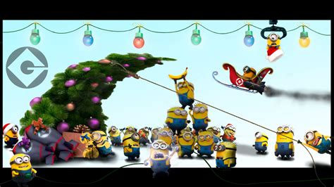 minions christmas desktop wallpapers toanimationscom hd wallpapers gifs backgrounds images