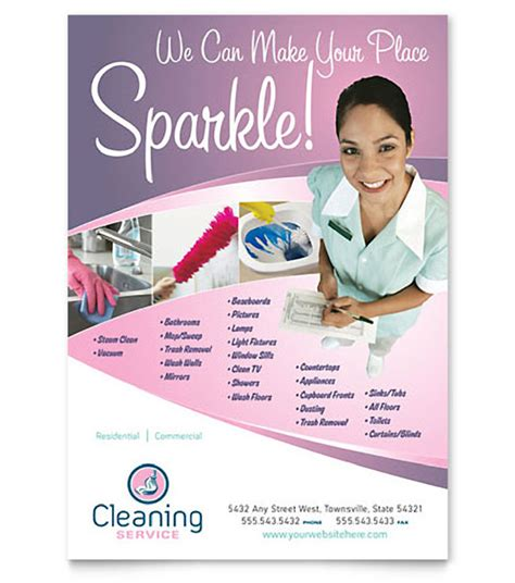 cleaning services advertising templates image gallery flyers