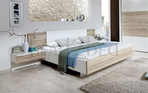 floating beds by stylform rustic oak white havanna floating bed