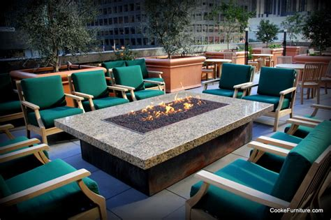 Montecito Fire Pit Table Contemporary Patio Los Patio Pit Tables