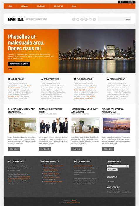 theme list drupal 7 maritime responsive drupal 7 business theme
