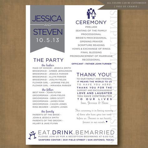 unique and fun wedding program PRINTABLE by