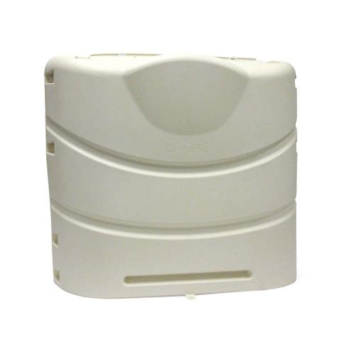 camco colonial white propane tank cover 40532 the home depot