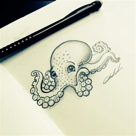 small octopus tattoo small baby octopus design