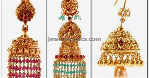 gold jhumka pattern gold jhumka designs with weight latest jewellery designs