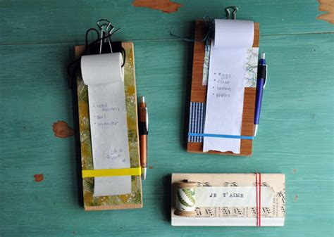 How To Make Pads Of Paper - how tuesday make a hanging notepad etsy journal