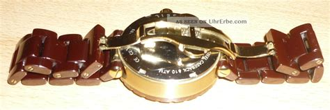 Chopard Keramik Brown fossil damen uhr braun gold armbanduhr ce1046