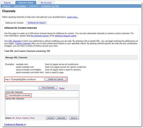 how to create an adsense url channel to track ads performance adsense4dummies 10 01 2006 11 01 2006