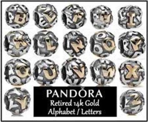 Pandora Retired Letter Charms