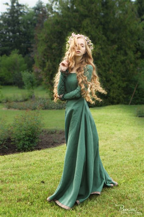 bridesmaid dress secret garden medieval renaissance