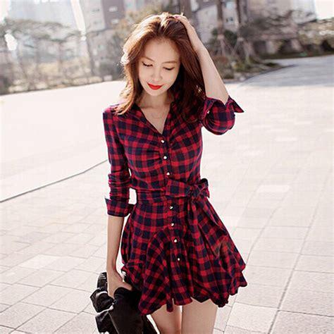 imagenes coreanas sin ropa aliexpress com comprar vestido de dise 241 o de moda rojo y