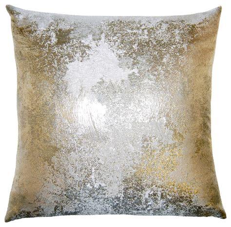 Contemporary Decorative Pillows Brillante Antiqued Pillow Contemporary Decorative