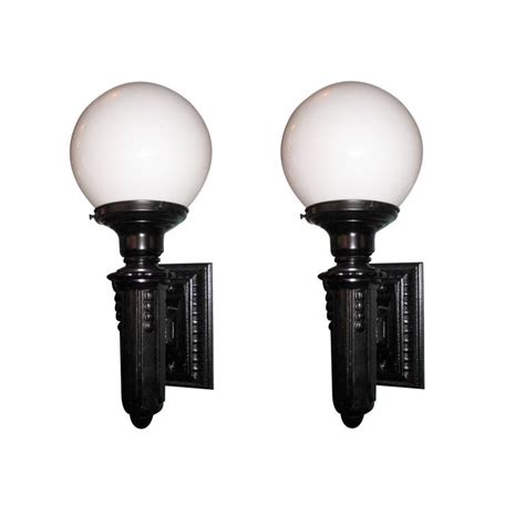 Cast Iron Sconce pair of cast iron exterior wall sconces at 1stdibs