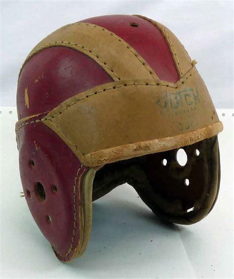 Hutch Football Helmet vintage hutch leather football helmet 10j63 ebay