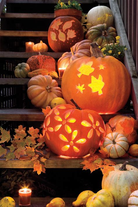 Pumpkin Design Templates by 33 Pumpkin Carving Ideas Southern Living