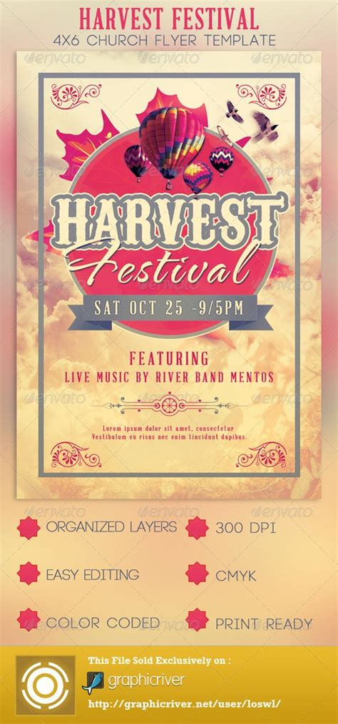festival poster template free harvest festival church flyer template harvest festivals