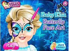 Disney Frozen- Baby Elsa Butterfly Face Art- Fun Online ... Kids Games For Girls Disney Free Online