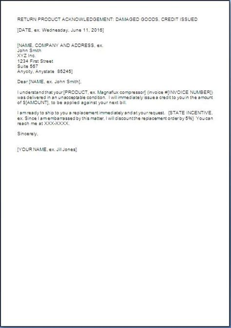Sle Letter For Product Replacement Product Replacement Letter To Customer