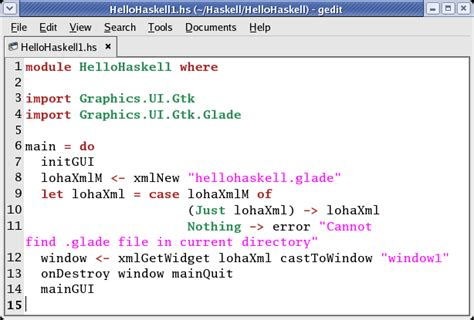 template haskell developing gnome apps with with glade and haskell gtk2hs