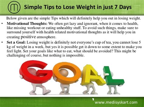 7 Tips To Find A In 7 Days by Tips To Lose Weight In Just 7 Days