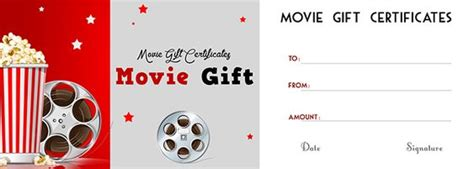 printable amc movie gift certificates gift certificate template certificate templates and movie