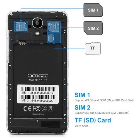 4g Sim Card Template by 6 0 Quot Doogee X7 Pro Android 6 0 16gb 13mp