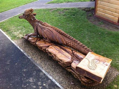 chainsaw bench logs dragon benches and chainsaw on pinterest