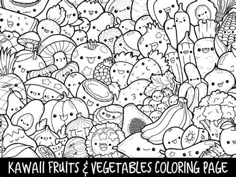 kawaii fruit coloring pages last minute halloween coloring page kawaii doodle print