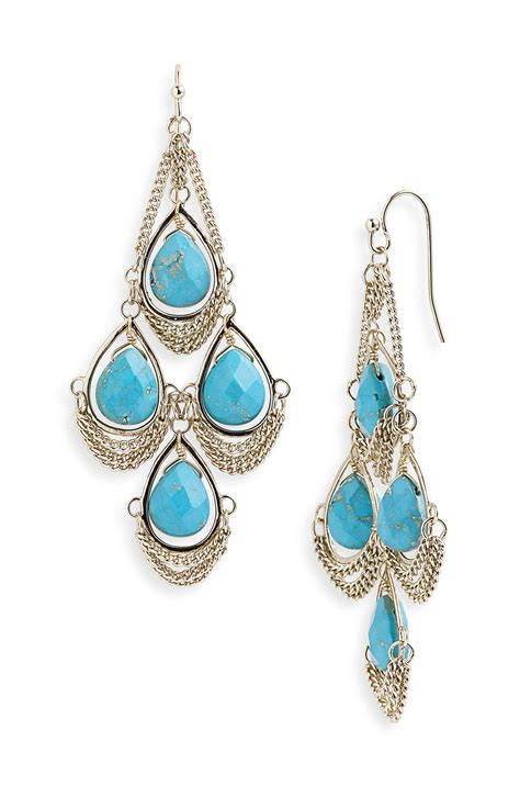 Turquoise Chandelier Earrings Kendra Trista Chandelier Earrings In Blue