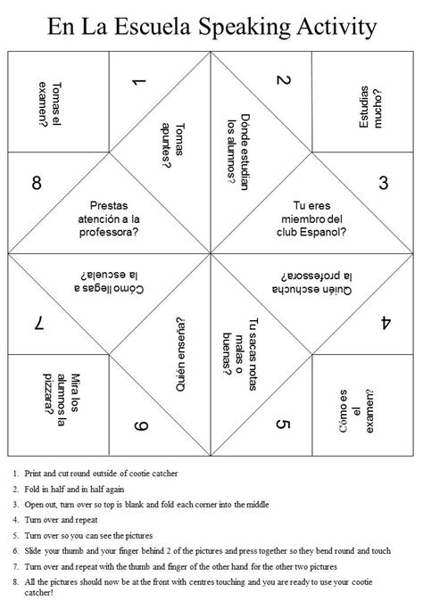 chatterbox downloadable cootie catchers