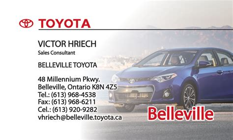 toyota business card template toyota sales business cards