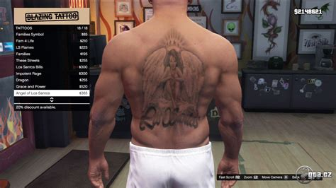 gta online tattoo angel tetov 225 n 237 franklin gta v grand theft auto 5 na gta cz