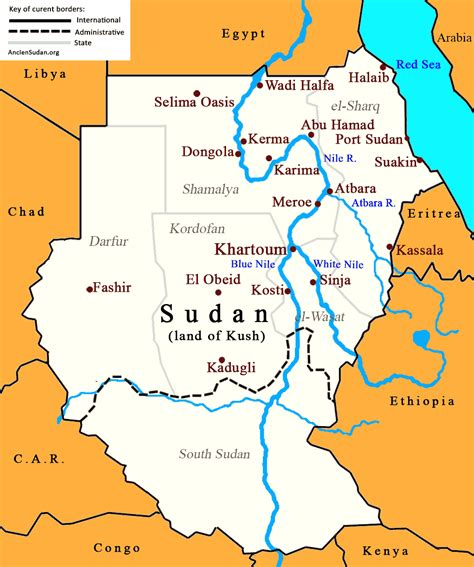 map of sudan ancient sudan nubia geography map