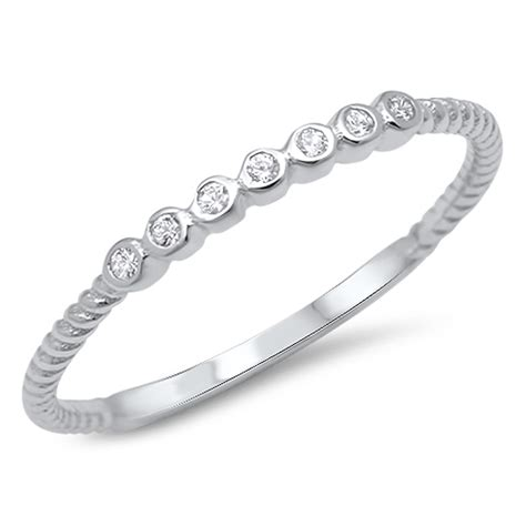 thin wedding ring new 925 sterling silver engagement band