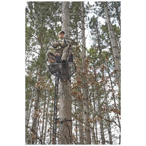 comfortable tree stands guide gear ultra comfort hang on tree stand 663261 hang